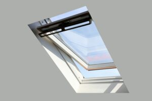 Skylight Installation on Clean white ceiling